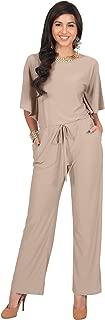 KOH KOH Womens Short Sleeve Long Pants Suit Jumpsuit Playsuit One Piece Romper