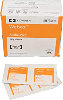 Kendall Alcohol Prep Wipes, Box 200 (686818) Category: Insulin Injectors and Syringes