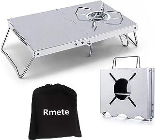 Rmete 遮熱テーブル SOTO(ST-310)向け イワタニ向け アルコールバーナー 遮熱板 二つ折れ シングルバーナー テーブル 一台多役 折り畳み ステンレス製 コンパクト 専用収納袋付き MT-ZD001