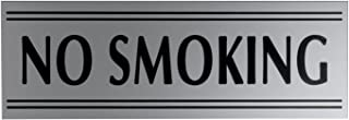 JP Signs No Smoking Sign Premium Engraved Safety Signage for Door or Wall, Large or Small Office, Restaurant, Shop, Highly Visible, Elegant Design on Plastic Material