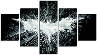AtfArt 5 Piece Batman print of the poster of painting on silk of the art canvas picture wall decoration (No Frame) Unframed far304 50 inch x30 inch