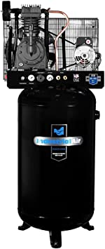 Industrial Air IV5048055 Vertical 80 gallon Two Stage Cast Iron Industrial Air Compressor: image