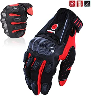 SCOYCO Men's Gloves Black,with Microfiber Hard...