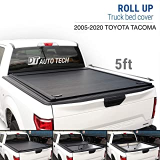Syneticusa Aluminum Roll-Up Retractable Low Profile Hard Tonneau Cover Cargo for 2005-2020 Tacoma Truck Bed (5ft Short Bed)