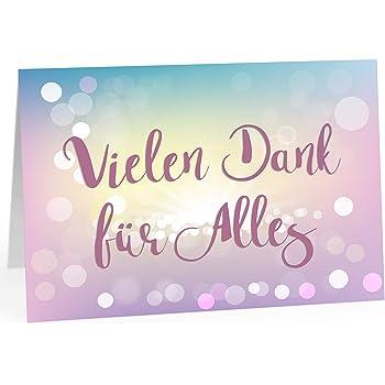 Große Dankeskarte A4 personalisiert Name Gruß-karte Danke-schön Umschlag
