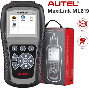 Autel ABS SRS OBD2 Scanner, Autel Scanner Maxilink ML619, Upgraded Version of AL619, Check Engine Code Reader with 10 OBD2 Test Modes