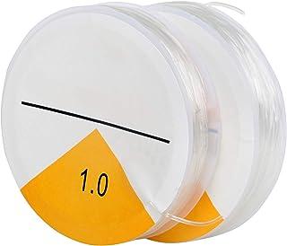 TRIXES Fil Extensible Élastique Transparent Fabrication de Bracelets - Fil pour Bijoux 2X Transparent 8 Mètres de Ficelle ...