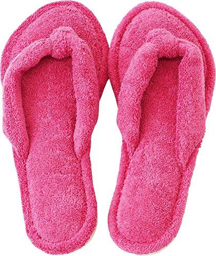 内野(UCHINO) カラーサンダルスリッパ 低反発ウレタン 洗濯可能 抗菌防臭 ピンク2 (M/約23~25cm)