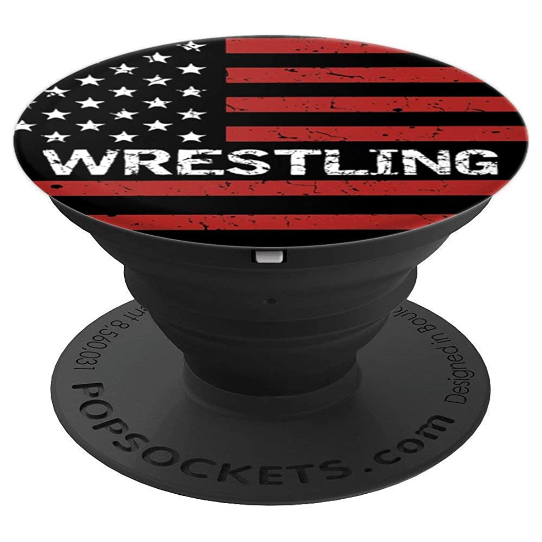 Wrestling USA American Flag Sport Fan Gift Pop Socket - PopSockets Grip and Stand for Phones and Tablets