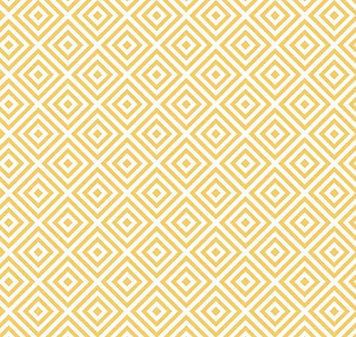 Klebefolie Celia Curry Geometrisches Motiv, Retro-Muster, Dekofolie, Möbelfolie, Tapete, selbstklebende Folie, PVC, ohne Phthalate, gelb, 45cm x 1,5m, Stärke 0,095mm, Venilia 54754