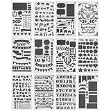 Mr. Pen- Journaling Stencil, 12 Pack, Stencils, 4x7 Inch, Bullet Journaling Supplies, Stencil Set, Journal Stencils, Journal Stencil, Planner Stencils, Bullet Journaling Stencil, Stencils for Planners