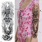 tzxdbh 3pcs, Tatuajes temporales de la Manga del Tatuaje del Tatuaje del Brazo de Robot Hombres Grandes Pegatinas Tatuaje del Cuerpo a Prueba de Agua mecánicas Gran Transferencia de Negro 3pcs 21