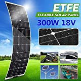 Panel solar semi-flexible 300W 18V cargador solar monocristalino para el bricolaje cable del módulo de coches al aire libre Carro Vehículo Barco Marina Inicio del sistema de rejilla impermeable