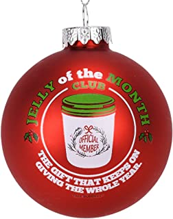 Tree Buddees Jelly of The Month Club Red Glass Christmas Ornament