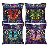 RNGIAN Fundas de almohada decorativas shutterstock_600738185 [1000738185] Paquete de 4 unidades de algodón y lino cuadrado para decoración del hogar de granja, color blanco