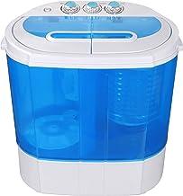SUPER DEAL Portable Compact Washing Machine, Mini Twin Tub Washing Machine w/Washer&Spinner, Gravity Drain Pump and Drain ...