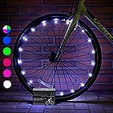 Activ Life Luces LED bicis (Set de 2 Blanco). Idea de Regalo Genial y Divertido para niños y Adultos. Accesorios Luminosos de Seguridad destacados para Ruedas de Bici. Luces LED día y Noche.