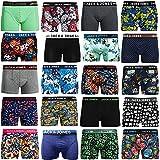 JACK & JONES Boxershorts 4er Pack Mix Trunks Boxer Short Unterhose , Mehrfarbig, XL