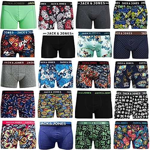 Pack de 4 calzoncillos tipo boxer Jack & Jones, tallas S, M, L, XL, XXL multicolor Large