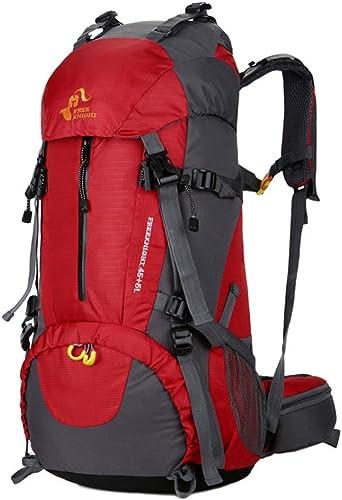 A-SSJ Sac à dos de sport en plein air sac d'escalade 50L envoyer la couverture de pluie