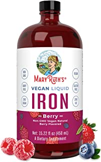 Liquid Iron for Kids & Adults by MaryRuth's | from Ferrochel® Ferrous Bisglycinate Chelate | 18mg per Servi...