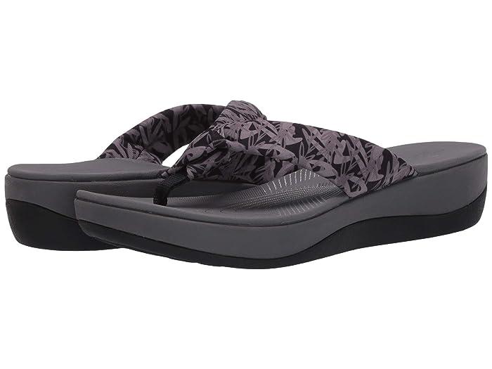 Clarks  Arla Glison (Black/Grey Floral Textile) Womens Sandals