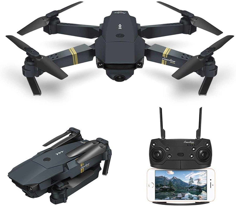 Kaiaki Drone with Camera Live Video, Drone X Pro Xtreme WiFi FPV Quadcopter with 120° WideAngle 720P HD Camera Foldable Drone RTF  Altitude Hold,Black,720p