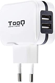 TooQ TQWC-1S02WT - Cargador de pared con 2 x USB (5V - 3.4 A, 17 W), con tecnologia AiPower, para iPad / iPhone / Samsung / Tablets / Smartphones, color BLANCO