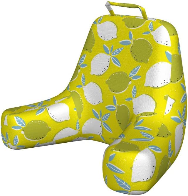 Ambesonne Lemon Reading Pillow Hand Sour Big and Organic Drawn 70% OFF Outlet Max 40% OFF