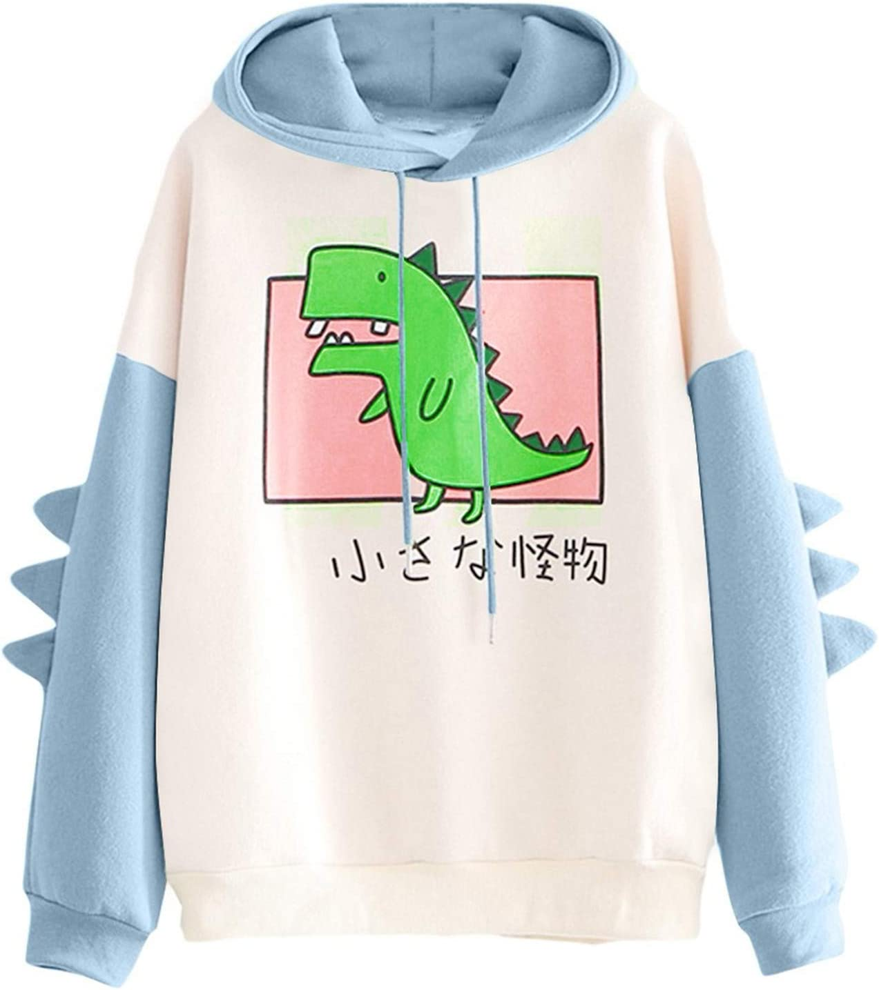 Eoailr Women Hoodies O-Neck San Francisco Mall Cute Cartoon Ranking integrated 1st place Cosplay Hoodi Dinosaur