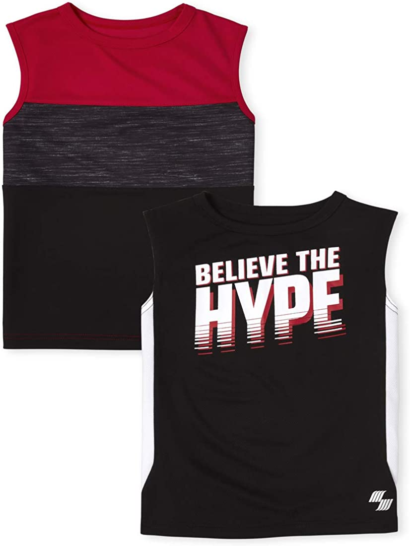 The Children's Place Boys Performance Muscle Tank Top 2-Pack
