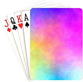 YPink Custom Poker Cards Watercolor Chaotic Clouds Poker Cards Unique for Kids & Adults Card Decks Games Standard Size
