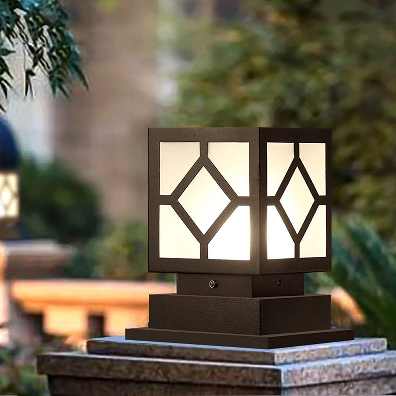 DFEIL Moderne Einfachheit Auenpfosten Lampe IP54 Wasserdichte Europische Hofsule Beleuchtung Amerikanische Villa Garten Park Zaun Stigma Licht Gemeinschaft Dekoration Sule Laterne