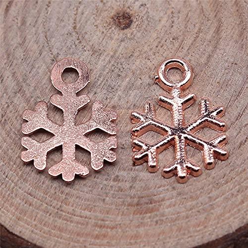 WANM Colgante Encantos De Copos De Nieve 20Pcs 15X10Mm Joyería Antigua Fabricación Artesanal De Bricolaje Hecho A Mano