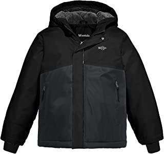Wantdo Boy's Mountain Ski Jacket Winter Fleece Outwear Waterproof Rain Coat