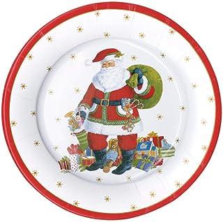 Christmas Paper Plates, Christmas Salad Plates, Christmas Party Plates, Holiday Party Decorations, Disposable Plates, Dess...