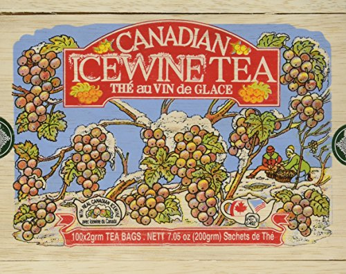 Canadian Ice Wine Tea in Wood Box - 100 Tea Bags