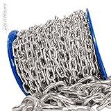 Seilwerk STANKE 5mm Rundstahlkette 30m kurzgliedrig Rolle Stahlkette -- DIN Eisenkette Stahl Eisen Kette abgerundet