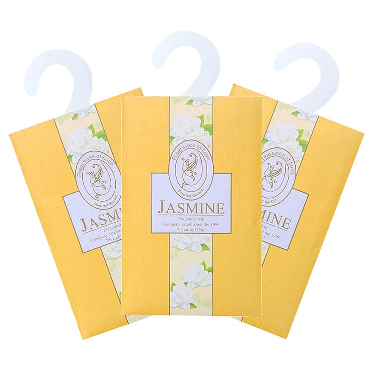 移住する滅びるドローTINKSKY 香り袋 サシェ 3枚セット 花の香り ルームフレグランス 車内用 玄関用 部屋用 芳香剤(ジャスミン)