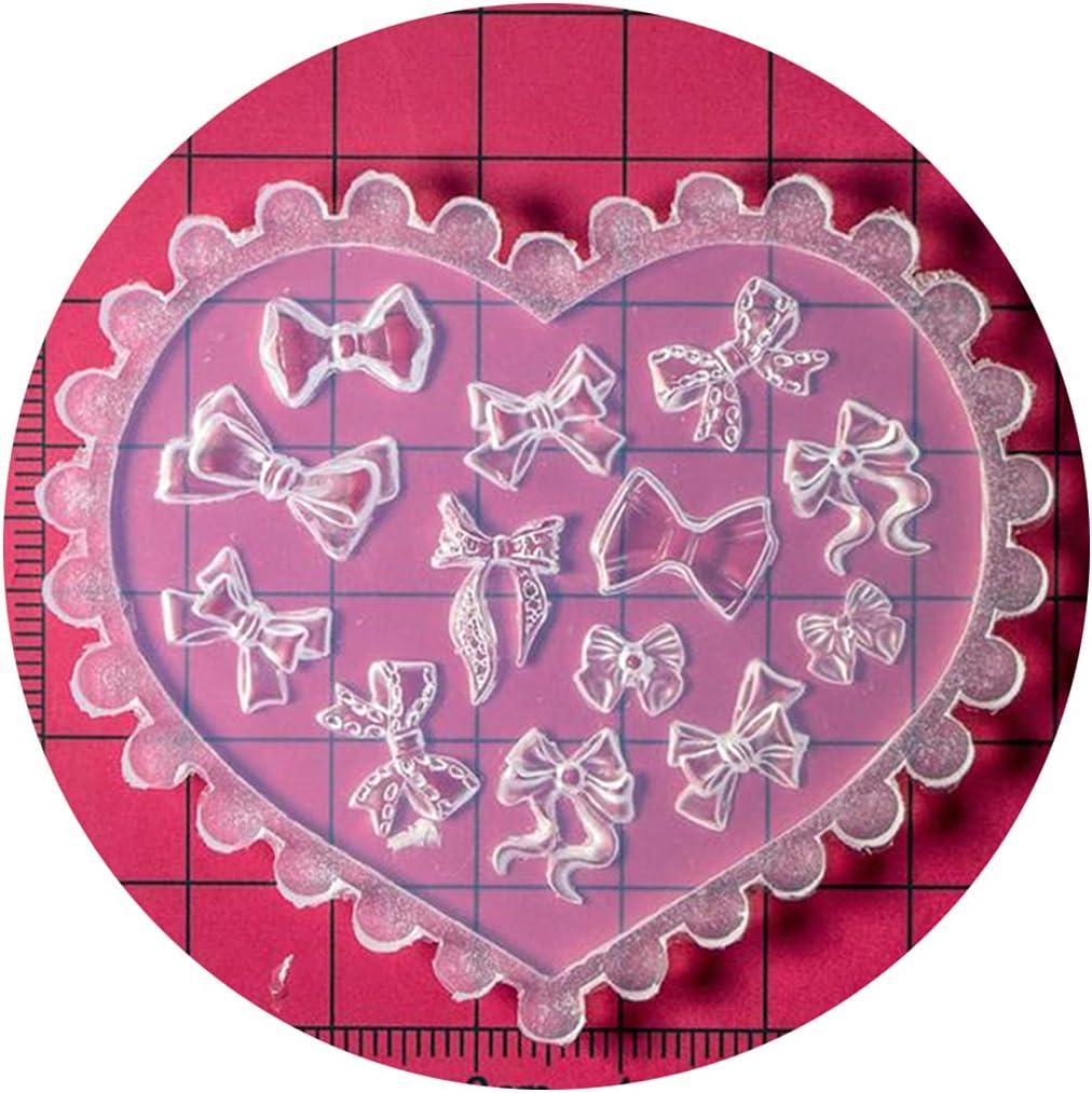 Resin Molds 3D Flower Bowknot Mold Ranking TOP17 Overseas parallel import regular item Nai Decoration Art Nail
