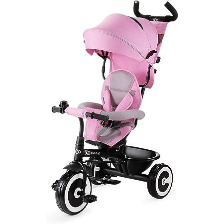 kk Kinderkraft Triciclo Evolutivo ASTON, Plegable, Cinturón, 9 Meses a 5 Años, Rosa