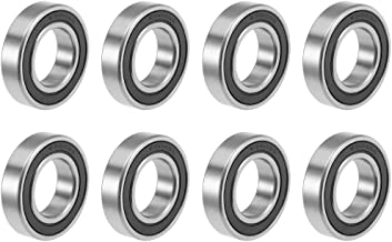 uxcell 6904-2RS Deep Groove Ball Bearings Z2 20mm x 37mm x 9mm Double Sealed Carbon Steel 8pcs