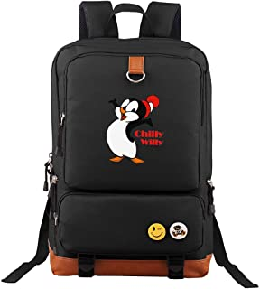 Chilly Willy Penguin SymphonyLeak Travel Laptop Backpack Business Laptops Backpack College School Computer Bag For Women & Men Fits 15.6 Inch Laptop