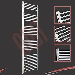 500 mm (w) x 1800 mm (h) - Piso Radiador toallero cromado horizontal Diámetro: 22 mm, Bar Modelo: 4 + 5 + 6 + 7 + 11