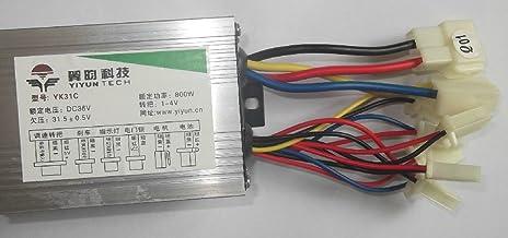 36V48V 800W Elektromotorcontroller Brushed DC-Motordrehzahlregelung für Elektro-Dreirad-Roller-Brushed-Controller