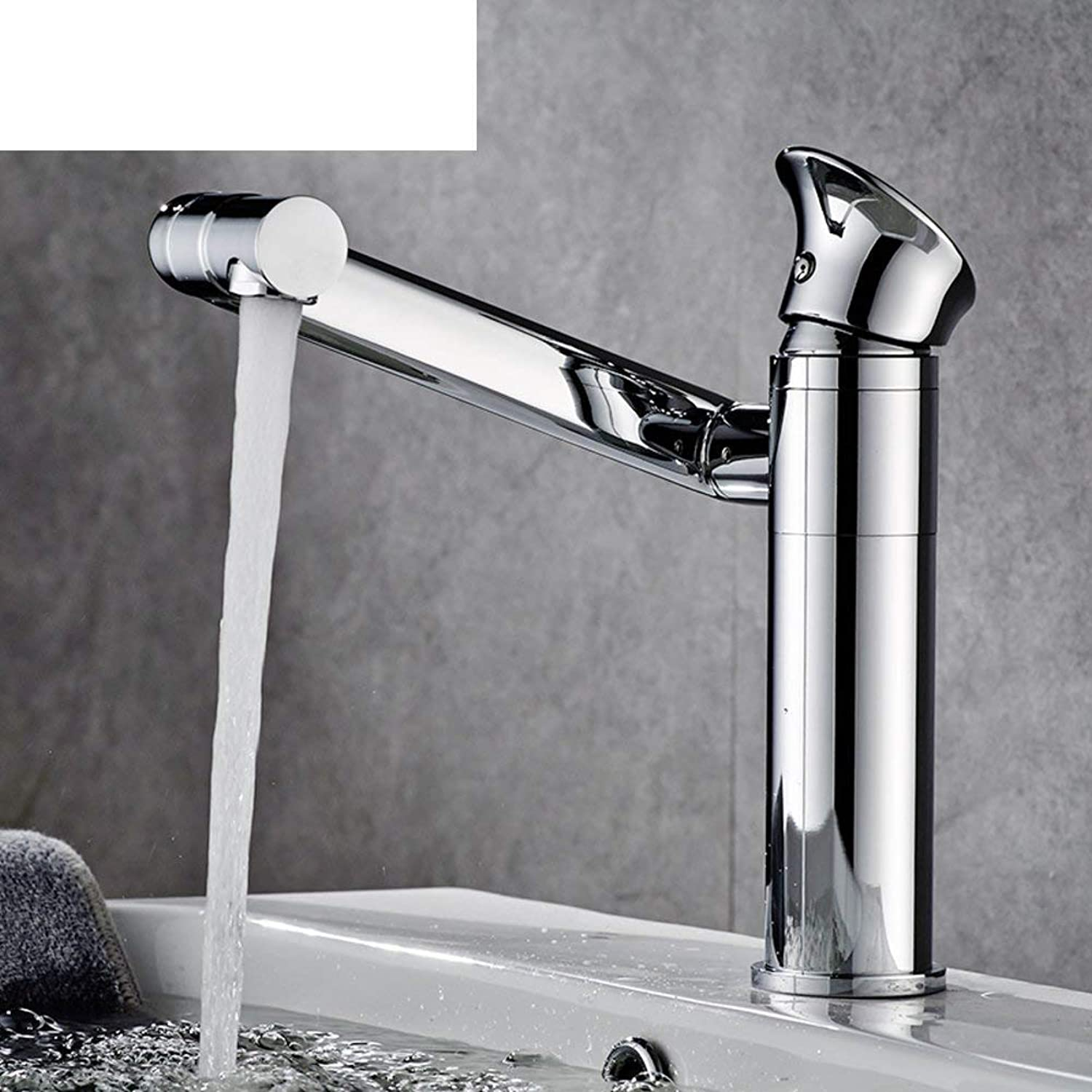 FuweiEncore Basin taps Hot and cold copper single hole faucet Bathroom washbasin faucet-A (color   -, Size   -)