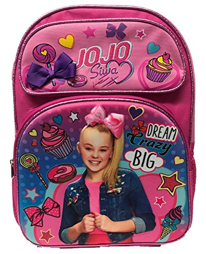 JoJo Siwa 16' Dream,Crazy,Big 3D, Large Backpack, School Bag, Rucksack, Travel Bag