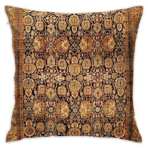 Sotyi-ltd Antike Persische Malayer Teppich Home Dekorative Überwurfkissen Kissenbezug für Zuhause Couch Bett Auto 45,7 x 45,7 cm