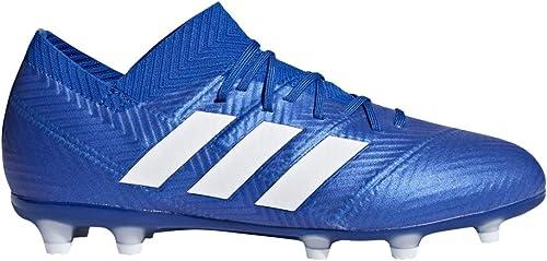 Adidas Kid's Nemeziz 18.1 FG Soccer Cleat, 5.0 D(M) US, Football bleu Cloud blanc Football bleu