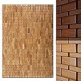 casa pura Alfombra de bamb MIA - Alfombra de Sauna | Tapete de bao...